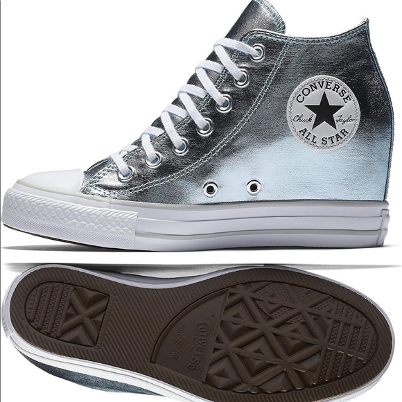 2dfdf5aab84 Converse Shoes - Converse chuck taylor lux wedge sneaker metallic